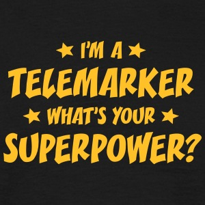 im a telemarker whats your superpower t-shirt - Men's T-Shirt