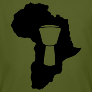 Motiv ~ Djembe in Afrika Bio-Shirt (Herren)