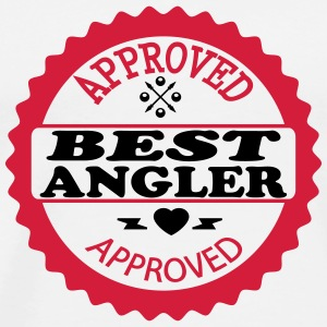 Approved best angler T-shirts - Mannen Premium T-shirt