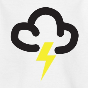 Lighting storm: retro weather forecast symbol tee  - Kids' T-Shirt