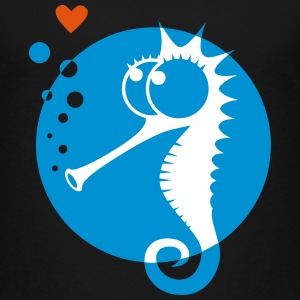 Seahorse with sweet little heart, love, kiss Shirts - Kids' Premium T-Shirt