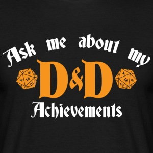 Ask me about DnD - Men's T-Shirt