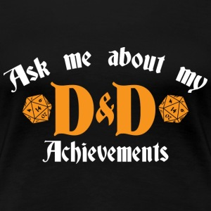 Ask me about DnD - Women's Premium T-Shirt