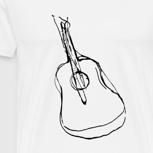 Abstract Guitar - Männer Premium T-Shirt