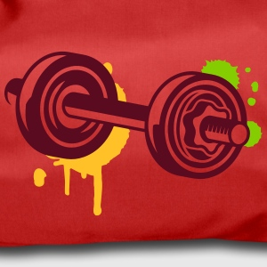 A dumbbell with graffiti Bags & Backpacks - Duffel Bag