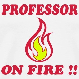 professor_on_fire_6172 T-shirts - Mannen Premium T-shirt