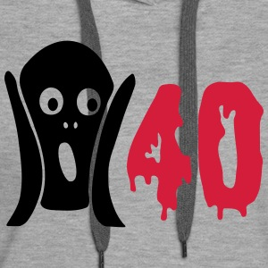 Scary 40th birthday Hoodies & Sweatshirts - Women's Premium Hoodie