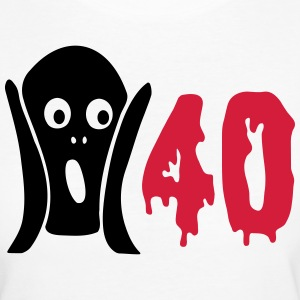 Scary 40th birthday T-Shirts - Women's Organic T-shirt