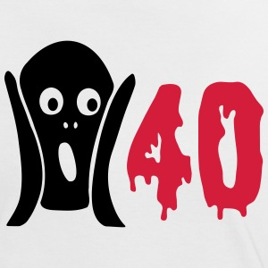 Scary 40th birthday T-Shirts - Women's Ringer T-Shirt