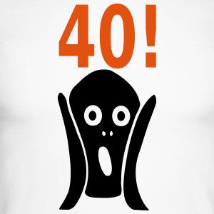 """Geburtstag T-Shirts mit """"Schrei zum 40. Geburtstag"""""""
