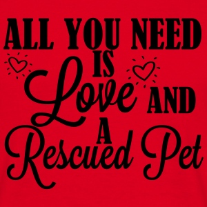 Love and a rescued pet T-shirts - Herre-T-shirt