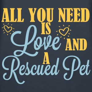 Love and a rescued pet Hoodies & Sweatshirts - Women's Premium Hoodie