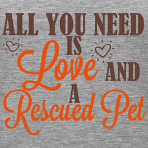 Love and a rescued pet Tops - Women's Premium Tank Top