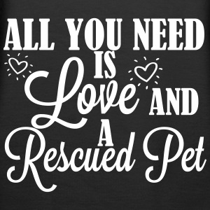 Love and a rescued pet Sudaderas - Sudadera con capucha premium para mujer