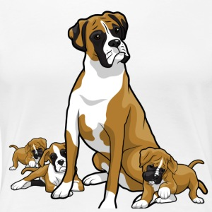 Boxer dog with puppy's - Women's Premium T-Shirt