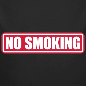 no smoking Baby body - Baby bio-rompertje met lange mouwen