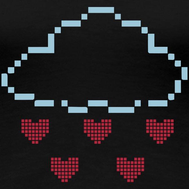 "Damen Premium T-Shirt ""Pixel Wolke"""