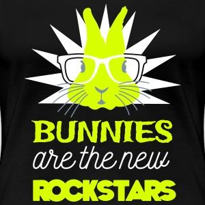 Bunnies are rockstars T-skjorter - Premium T-skjorte for kvinner