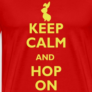 keep calm and hop on T-shirts - Premium-T-shirt herr
