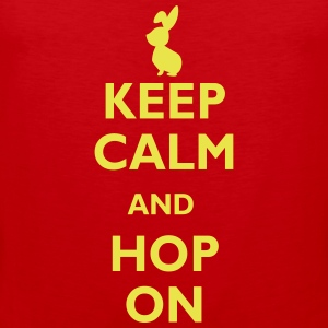 keep calm and hop on Tank topy - Tank top męski Premium