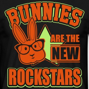 Bunnies are rockstars T-shirts - Mannen T-shirt