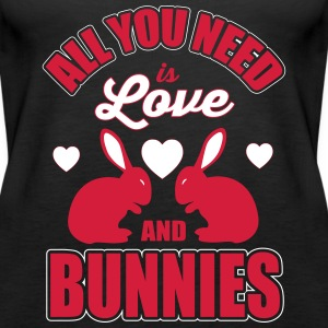 all you need is love and bunnies Topy - Tank top damski Premium