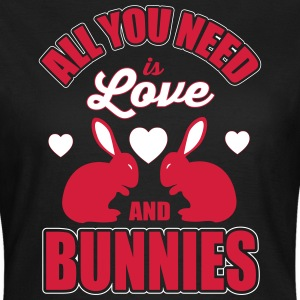 all you need is love and bunnies Koszulki - Koszulka damska