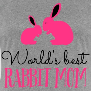 worlds best rabbit mom T-shirts - Premium-T-shirt dam