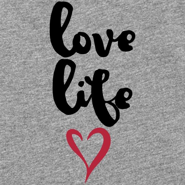 "Damen Premium Top ""Love Life"""