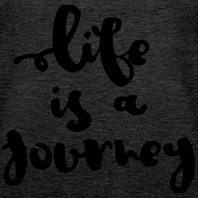 "Damen Premium Top ""Life is a journey"""