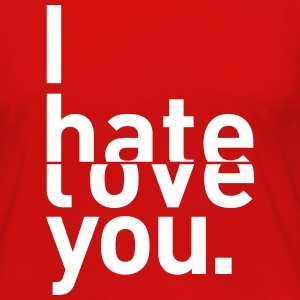i hate love you I hate you love Long Sleeve Shirts - Women's Premium Longsleeve Shirt