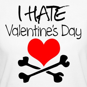 I hate Valentine's Day T-Shirts - Frauen Bio-T-Shirt
