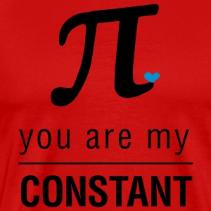 Rood You are my constant T-shirts - Mannen Premium T-shirt