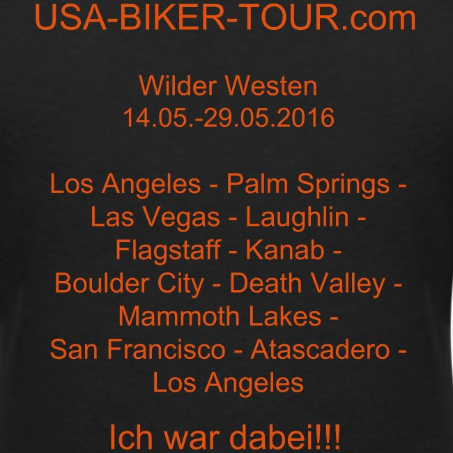 Damen-Shirt Tour Wilder Westen 03/2016