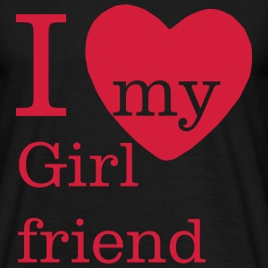I love my Girlfriend Shirt - Valentinstag - Männer T-Shirt