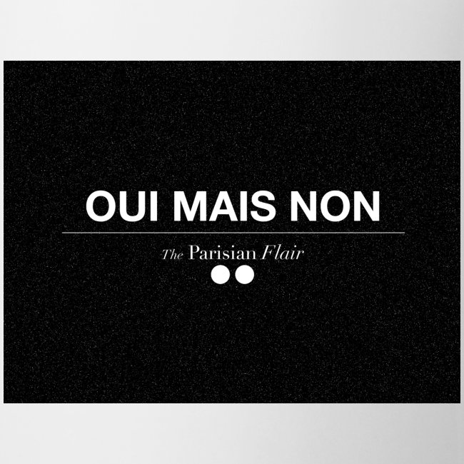 MUG - UI MAIS NON (black)