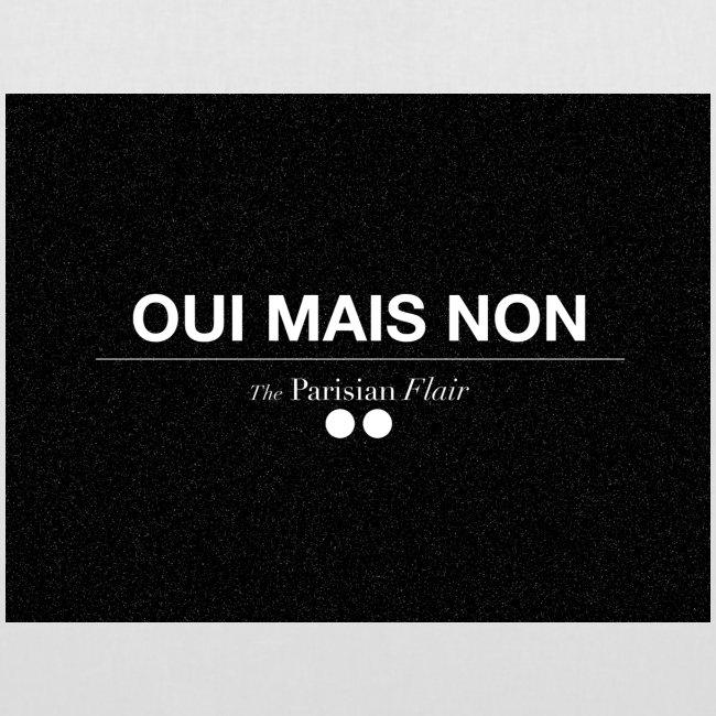 EASY - OUI MAIS NON  en toile blanc/noir