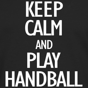 keep calm and play handball Skjorter med lange armer - Premium langermet T-skjorte for menn