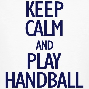 keep calm and play handball T-skjorter - Økologisk T-skjorte for menn
