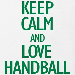 keep calm and love handball Skjorter - Økologisk T-skjorte for barn