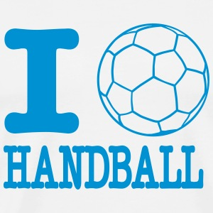 i love handball ball T-skjorter - Premium T-skjorte for menn