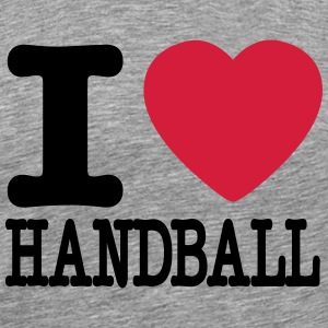 i love handball heart T-skjorter - Premium T-skjorte for menn