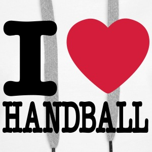 i love handball heart Gensere - Premium hettegenser for kvinner