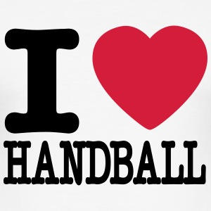 i love handball heart T-Shirts - Men's Slim Fit T-Shirt