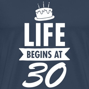 Life Begins At 30 T-shirts - Mannen Premium T-shirt