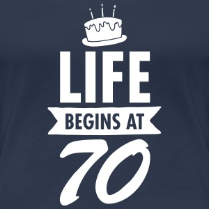 Life Begins At 70 T-shirts - Premium-T-shirt dam