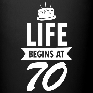 Life Begins At 70 Mugs & Drinkware - Full Colour Mug