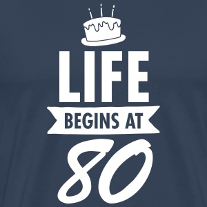 Life Begins At 80 T-shirts - Premium-T-shirt herr