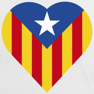 Catalonia Blue Estelada Heart - Women's Ringer T-Shirt