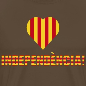 La Senyera Catalonia Heart Corazon - Men's Premium T-Shirt